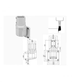 SAWJV / Wandmontage onderdeel voor verticale aansluiting SL